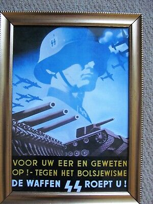 WW2 POSTERS PRINTS GERMAN WAFFEN SS PRINTS REPRODUCTION IN FRAMES x ...
