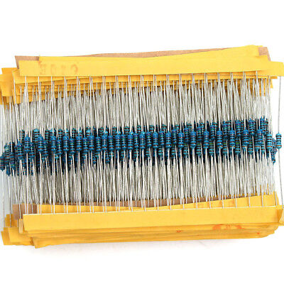2600pcs 130 Values 1/4W Metal Film Resistors Resistance Assortment Kit Set 1%
