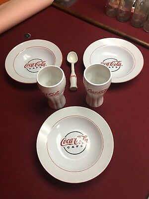 Coca-Cola Cafe Gibson Soup/Salad Bowls Set of 3, 2 Cups, 1 Ice Cream Scoop
