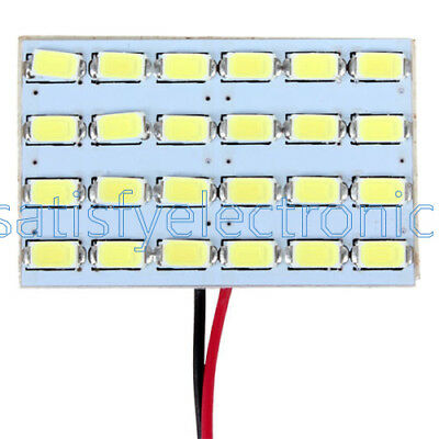 24 x 5730 SMD LED Light Panel Board Car Interior Dome Reading Lamp Light 12V 3W