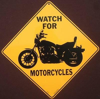 MOTORCYCLE CROSSING SIGN aluminum picture decor sports novelty home signs