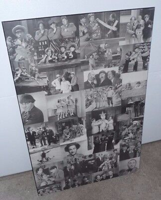 Three Stooges Photo Collage Hard Poster Reproduction from There Great Movies