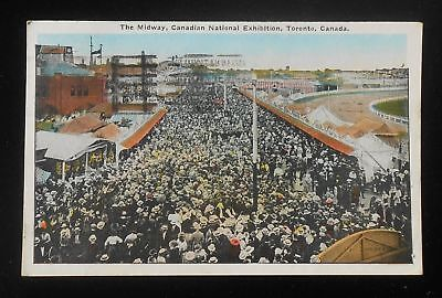 1930 The Midway Canadian National Exhibition Huge Crowd Toronto ON Canada PC