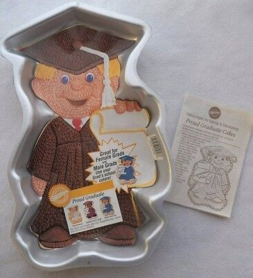 Proud Graduate with Insert /& Booklet Cake Pan from Wilton 1800