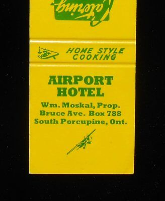 1970s? Airport Hotel Wm. Moskal Prop. Timmins South Porcupine ON Canada Cochrane
