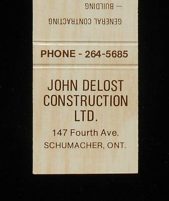 1970s? John Delost Construction 147 Fourth Ave. Timmins Schumacher ON Canada MB