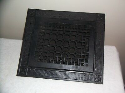 Antique Cast Iron Metal  Floor Grate with Louvers