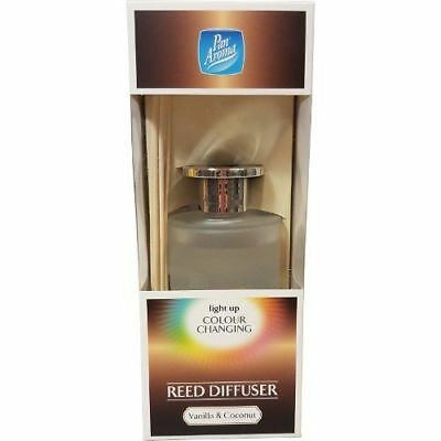 Pan Aroma Light Up Colour Changing LED Reed Diffuser - Vanilla & Coconut