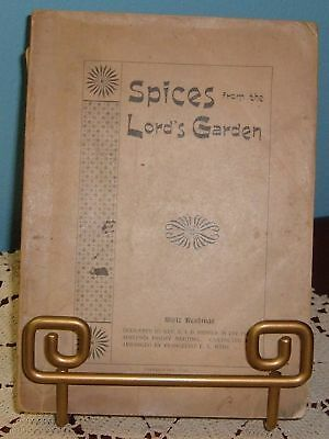 Spices from the Lord's Garden - by Rev Pepper 1895 ULTRA RARE Antique Book