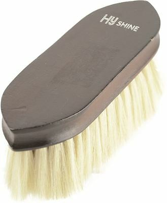 HySHINE Deluxe Goat Hair Wooden Horse Grooming Dandy Brush - Dark Brown 4584