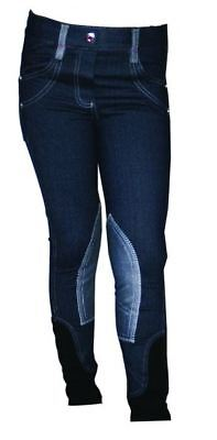 Horseware Ireland Kids Denim Breeches Denim/Purple 20-30 CLH0E0