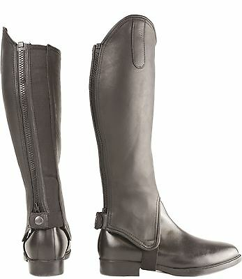 Hy Leather Gaiters for Horse Riders Brown/ Black Size XS-XL 4888P