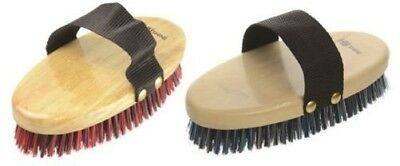 HySHINE Natural Wooden Horse Pony Grooming Body Brush 10918P