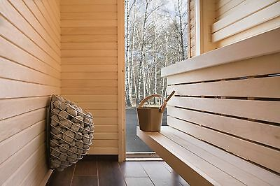 Electric Sauna Heater + Uku Remote Control, Scandinavian Design Stove 4,5-9 kW