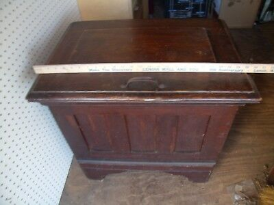 VERY RARE ANTIQUE OAK ICE BOX CHEST Panel Sides  WATER HOOKUP & SPIGOT