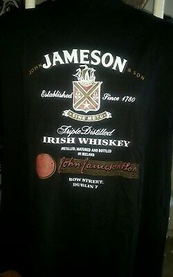 NEW Jameson Distillery Whiskey T Shirt Dublin, Ireland Irish Black Sz M Cotton