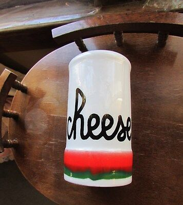 Vintage Baldelli White Ceramic Cheese Shaker Made In Italy