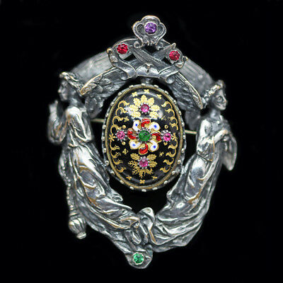 Antique Renaissance Revival Neo Gothic Brooch Froment-Meurice Wiese (#6214)