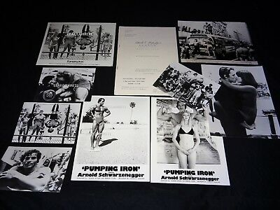 schwarzenegger PUMPING IRON Stay Hungry dossier presse + photos body building