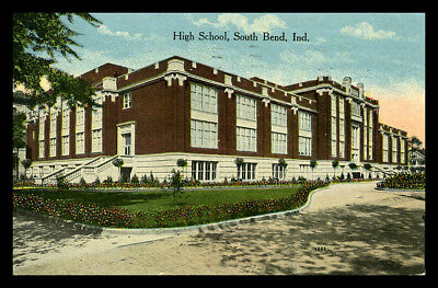 Indiana Postcard: 1918, High School, South Bend, Indiana