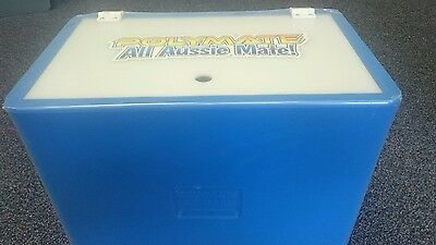 Aussie Polymate Live Bait Tank - 35Ltr Blue UV Stabilised - with hinged lid