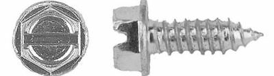 LICENSE PLATE SCREWS SLOTTED HEX HEAD SELF TAPPING (500 per box)