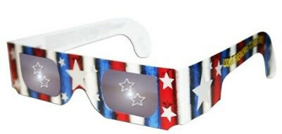 3D Holographic Glasses w Patriotic Frame-See STARS at Any Bright Point of Light-