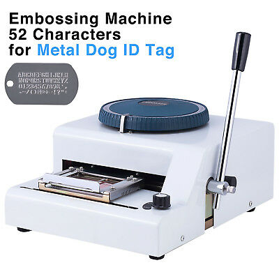 Dog ID Tag Embosser Embossing Stamping Manual Machine 52 Characters