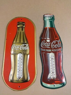 2 Vintage Coca Cola Thermometers