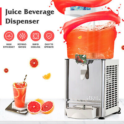 Commercial Electric 4.8 gal Frozen Juice Beverage Dispenser Fruit Tea Cold Drink