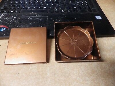 Mid Century Boxed Set Steeds 7 Plastic Coasters Copper Brown ADV. GOODYEAR TIRE