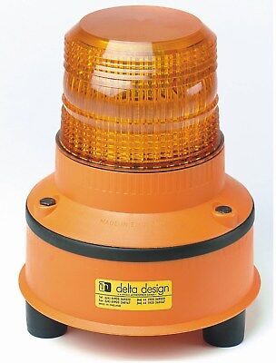 Delta Design RB1x12/1 SENTRY 2W Xenon LONGLIFE AMBER Rechargeable Warning Beacon