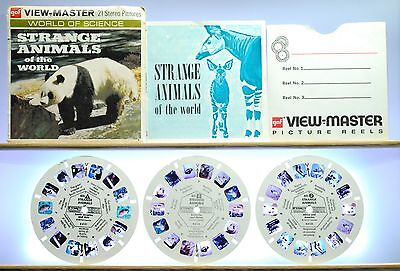 Strange Animals of the World Set B615 - View-Master World of Science Packet