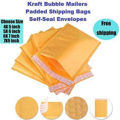 Kraft Bubble Mailers - Yellow Padded Mailing Bags - Paper Shipping Envelopes