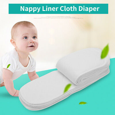 10Pcs Reusable Baby Modern Cloth Diaper Nappy Liners Insert 3 / 6 Layers Cotton
