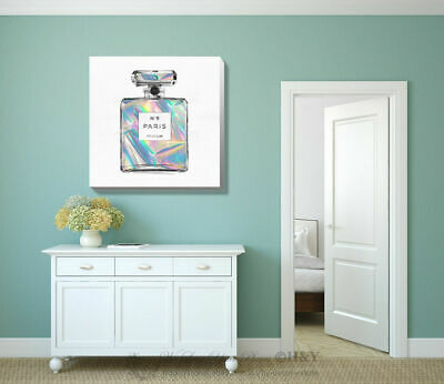 Shining Perfume Stretched Canvas Print Framed Wall Art Home Office Decor Gift