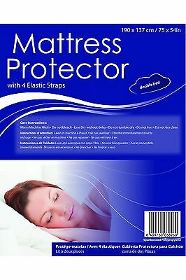 Premium Fitted Sheet Double Bed Sized Mattress Protector Elastic Strap