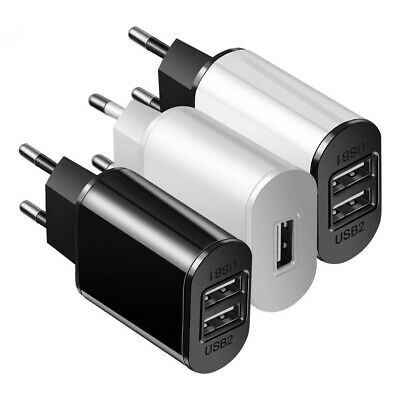 2A EU Fast Charger Dual USB Wall Charger Adapter Universal Mobile Phone Charger