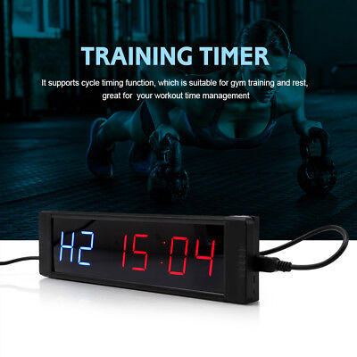 Programmable Crossfit Interval Timer Wall Clock w/Remote For Gym Fitness wt