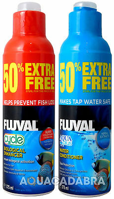 FLUVAL AQUAPLUS & CYCLE 375ml (250ml + 50% EXTRA FREE) TAP AQUARIUM WATER CARE