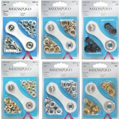 Millward 5.5mm, 8.7mm Or 10.5mm Eyelets with Tool Starter Kit