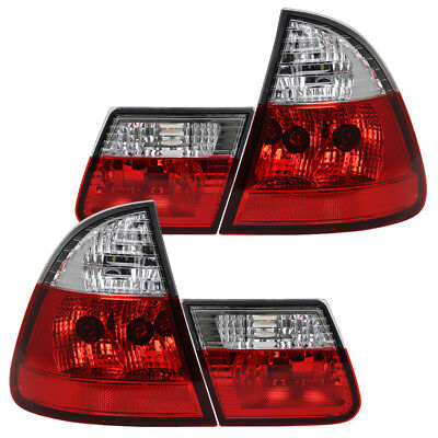 Rückleuchten Klarglas Set BMW E46 Touring Bj. 99-05 Rot/Chrom