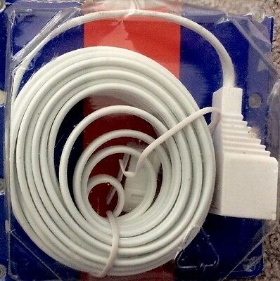 5m Telephone Extension Cable Phone Extention Lead 5 BT