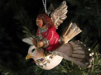 Retired Pam Schifferl Angel Riding Dove Ornament – Winterberry Collection