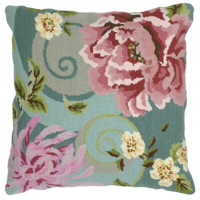 Floral Swirl in Green : Anchor Tapestry Kit: Cushion : Living : - ALR01