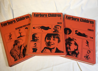 Fairburn Children Visual Art Artist Illustrator Photo Reference 3 Book 1978 SET
