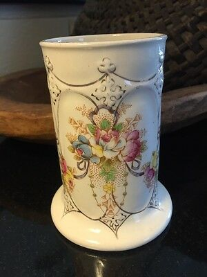 "Antique Devon Ware Fieldings WYE Hand Painted 4 3/4"" Vase"