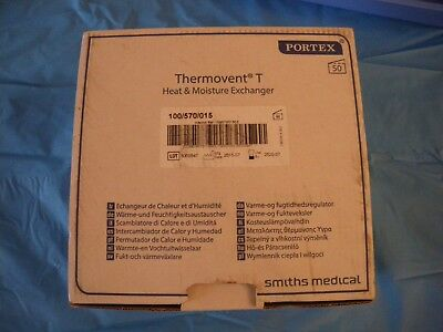 50 Thermovent T Heat And Moisture Exchanger (hme). Smiths Medical 100/570/015