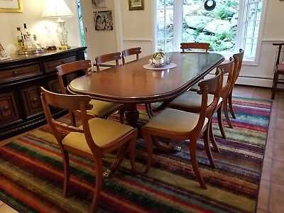 Mahogany Dining Set - 8 Chairs, Extendable table