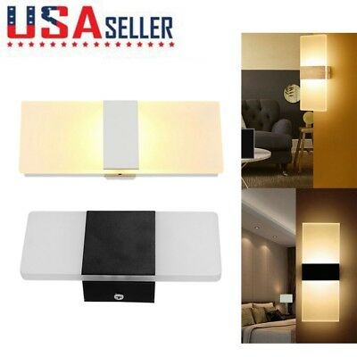 LED Wall Light Up Down Cube Indoor Outdoor Sconce Lighting Bedside Lamp Fixture
